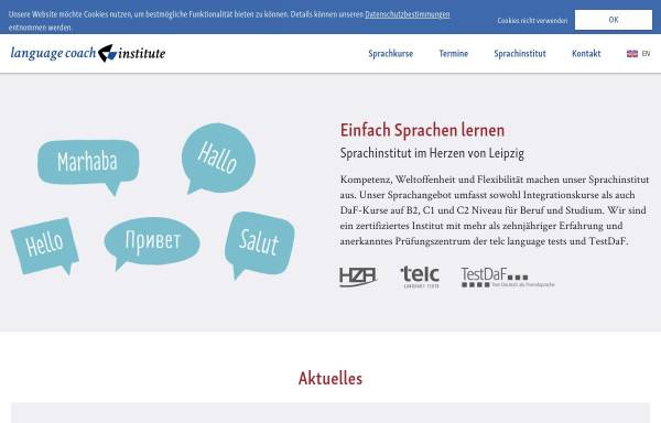 Vorschau von www.languagecoach.de, language coach institute