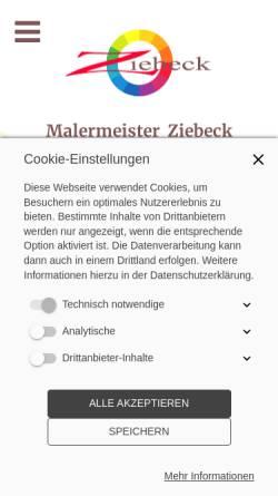 Vorschau der mobilen Webseite www.unser-maler.de, Malermeister Rolf Ziebeck