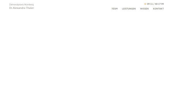 Vorschau von www.dr-alexandra-thaler.de, Zahnarzt Dr. med. dent. Alexandra Thaler