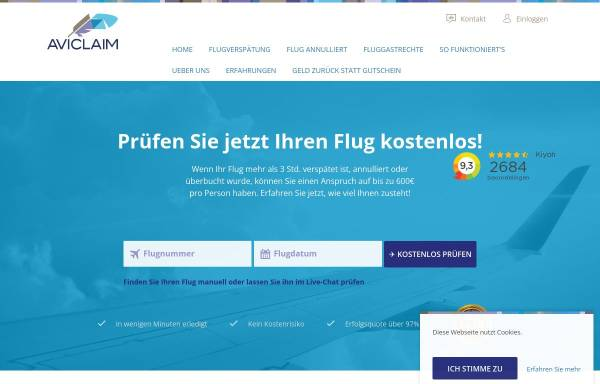 Vorschau von www.aviclaim.de, Aviclaim - ProBe ASP B.V.