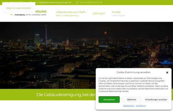 Vorschau von www.gebaeudereinigung-kugel.berlin, Gebäudereinigung Kugel