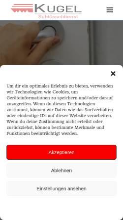 Vorschau der mobilen Webseite www.schluesseldienst-kugel.de, Schlüsseldienst Kugel