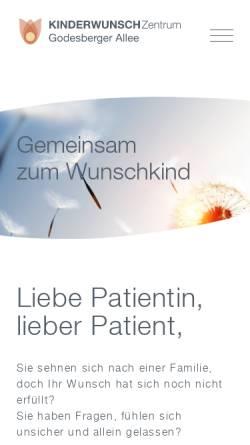 Vorschau der mobilen Webseite praxis-godesberger-allee.de, MVZ für Frauenheilkunde und IvF-Medizin Bonn GbR