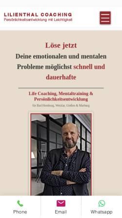 Vorschau der mobilen Webseite www.lilienthal-coaching.de, Lilienthal Coaching