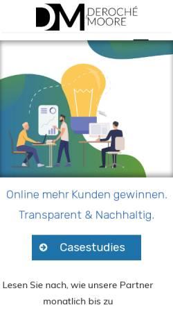 Vorschau der mobilen Webseite deroche-moore.de, Deroché & Moore GbR