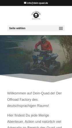Vorschau der mobilen Webseite www.dein-quad.de, Dein Quad - Jacqueline Leese