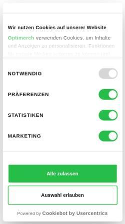 Vorschau der mobilen Webseite www.optimerch.de, Optimerch GmbH