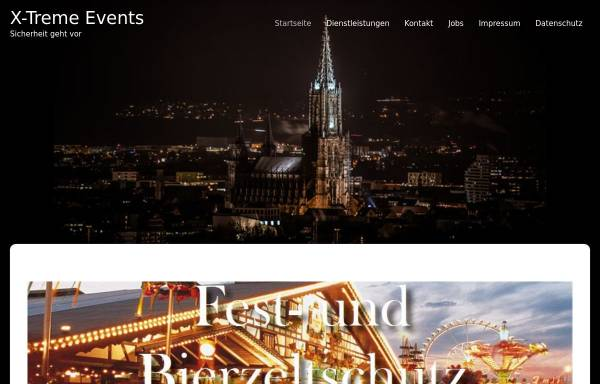 Vorschau von www.x-tremeevents.de, X-Treme Events Sicherheitsdienst