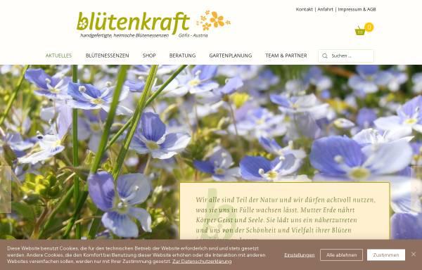 Vorschau von www.bluetenkraft.at, blütenkraft-Produkte Sonderegger