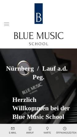 Vorschau der mobilen Webseite www.blue-music-school.de, Blue Music School