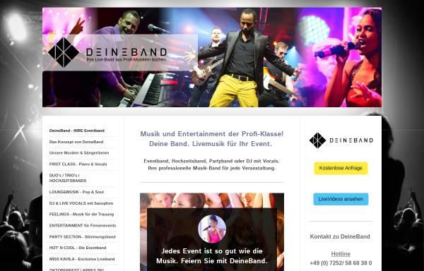Vorschau von www.deineband.com, DeineBand - Profibands für Ihr Event