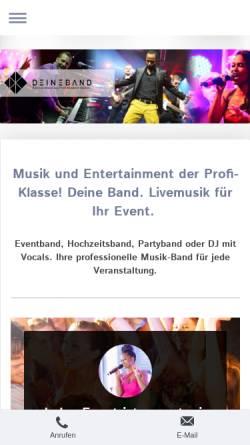 Vorschau der mobilen Webseite www.deineband.com, DeineBand - Profibands für Ihr Event