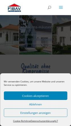 Vorschau der mobilen Webseite www.fibav.de, FIBAV Immobilien GmbH