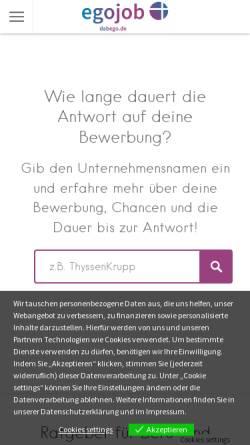 Vorschau der mobilen Webseite dabego.de, Dabego