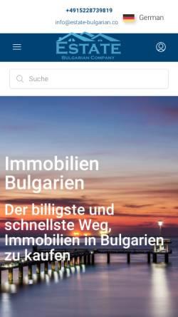Vorschau der mobilen Webseite estate-bulgarian.com, Estate Bulgarian
