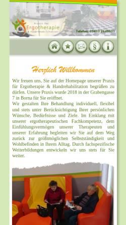 Vorschau der mobilen Webseite www.borna-ergotherapie.de, Praxis für Ergotherapie & Handrehabilitation