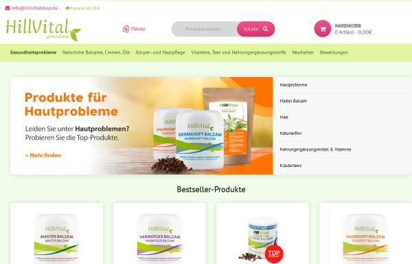 Vorschau von www.hillvitalshop.de, HillVitalshop - BizPartner Group GmbH