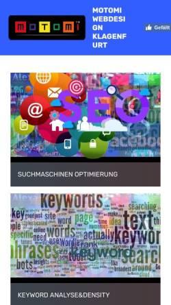 Vorschau der mobilen Webseite www.motomi.at, Motomi Webdesign