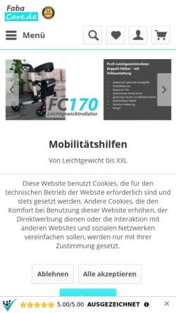 Vorschau der mobilen Webseite fabacare.de, FabaCare
