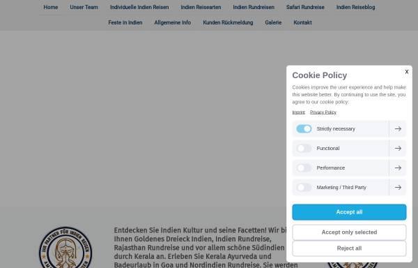 Vorschau von www.indien-individuell-erleben.de, Amazing Indien Reisen