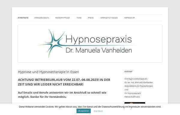 Vorschau von www.hypnosezimmer.de, Hypnosepraxis Dr. Manuela Vanheiden