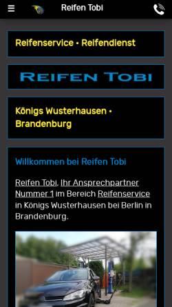 Vorschau der mobilen Webseite www.reifen-tobi.de, Reifen Tobi