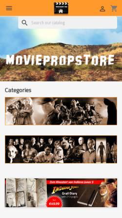 Vorschau der mobilen Webseite www.moviepropstore.de, Moviepropstore