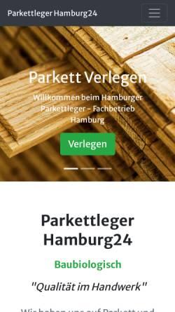 Vorschau der mobilen Webseite www.parkettleger-hamburg24.de, Wolfgang Lützow - Parkettleger Hamburg24