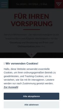 Vorschau der mobilen Webseite www.der-informationsdesigner.de, Der Informationsdesigner