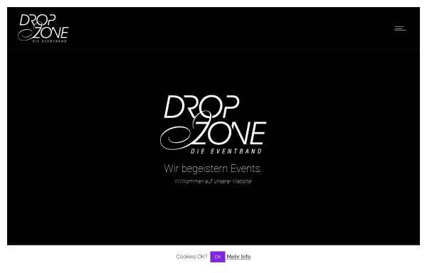 Vorschau von www.dropzone-band.de, Dropzone Coverband