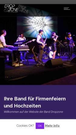 Vorschau der mobilen Webseite www.dropzone-band.de, Dropzone Coverband