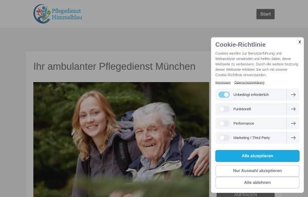 Vorschau von www.pflegedienst-himmelblau.de, Pflegedienst Himmelblau GmbH