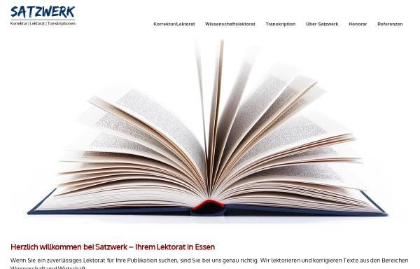 Vorschau von www.satzwerk-lektorat.de, Satzwerk - Lektorat