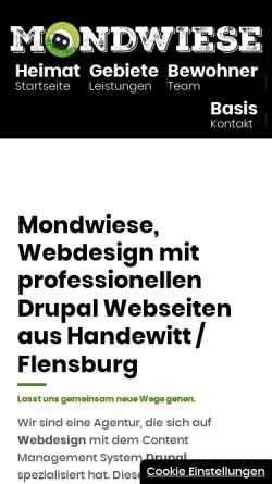 Vorschau der mobilen Webseite mondwiese.de, Mondwiese GmbH