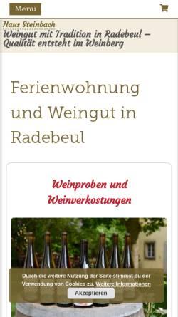 Vorschau der mobilen Webseite www.haus-steinbach.de, Haus Steinbach