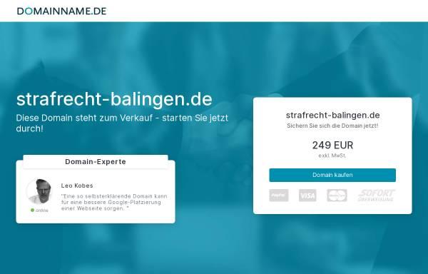 Vorschau von strafrecht-balingen.de, Schust Federle Anwalt