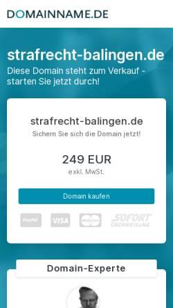 Vorschau der mobilen Webseite strafrecht-balingen.de, Schust Federle Anwalt