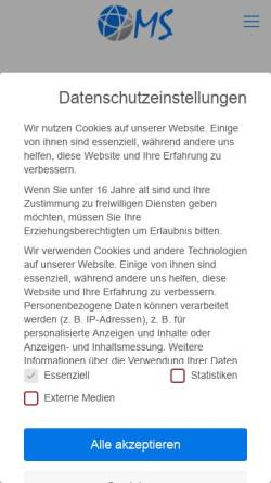Vorschau der mobilen Webseite oms-consulting.net, OMS Consulting - Max Schmidberger