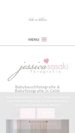Vorschau der mobilen Webseite www.jessica-sasaki.com, Jessica Sasaki Fotografie
