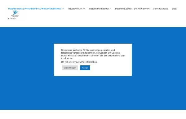 Vorschau von www.detektiv-privatdetektei.de, Detektei Hans