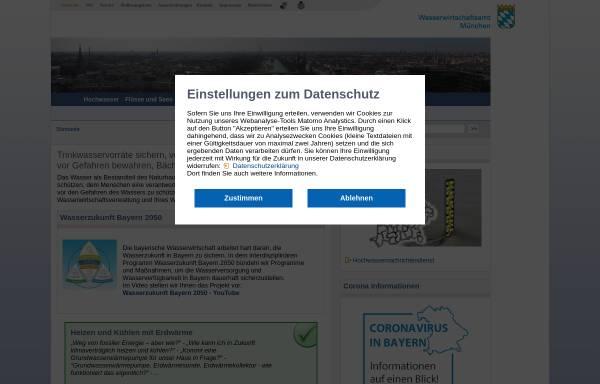 Vorschau von www.wwa-m.bayern.de, Wasserwirtschaftsamt München