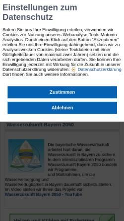 Vorschau der mobilen Webseite www.wwa-m.bayern.de, Wasserwirtschaftsamt München