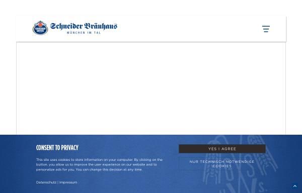 Vorschau von www.schneider-brauhaus.de, Schneider Bräuhaus