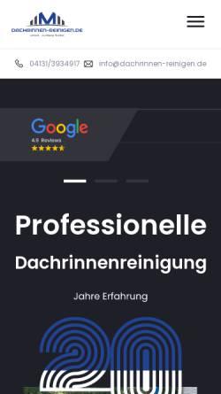 Vorschau der mobilen Webseite www.dachrinnen-reinigen.de, Modern Living Service Ltd