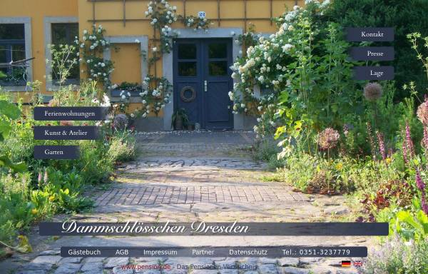 Vorschau von www.dammschloesschen-dresden.de, Dammschlößchen Dresden