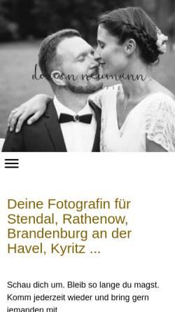 Vorschau der mobilen Webseite www.doreen-neumann.com, Doreen Neumann Fotografie