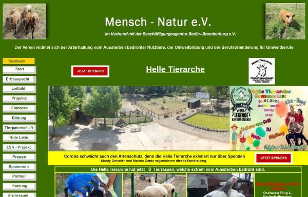 Vorschau von www.mensch-natur.eu, Mensch - Natur e.V.