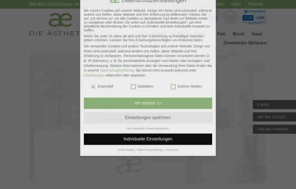 Vorschau von www.aestheten.de, Die Ästheten GmbH & Co. Medical Spa KG