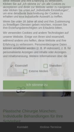 Vorschau der mobilen Webseite www.aestheten.de, Die Ästheten GmbH & Co. Medical Spa KG