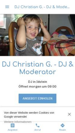 Vorschau der mobilen Webseite dj-christian-g-dj-moderator.business.site, DJ & Moderator Christian G.